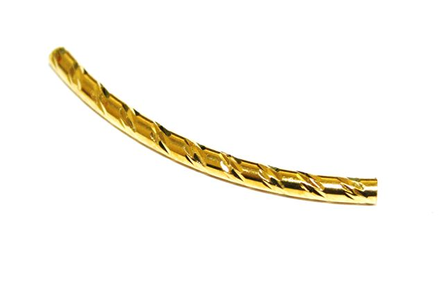 Pcs mm curved spacer tube gold colour nickel