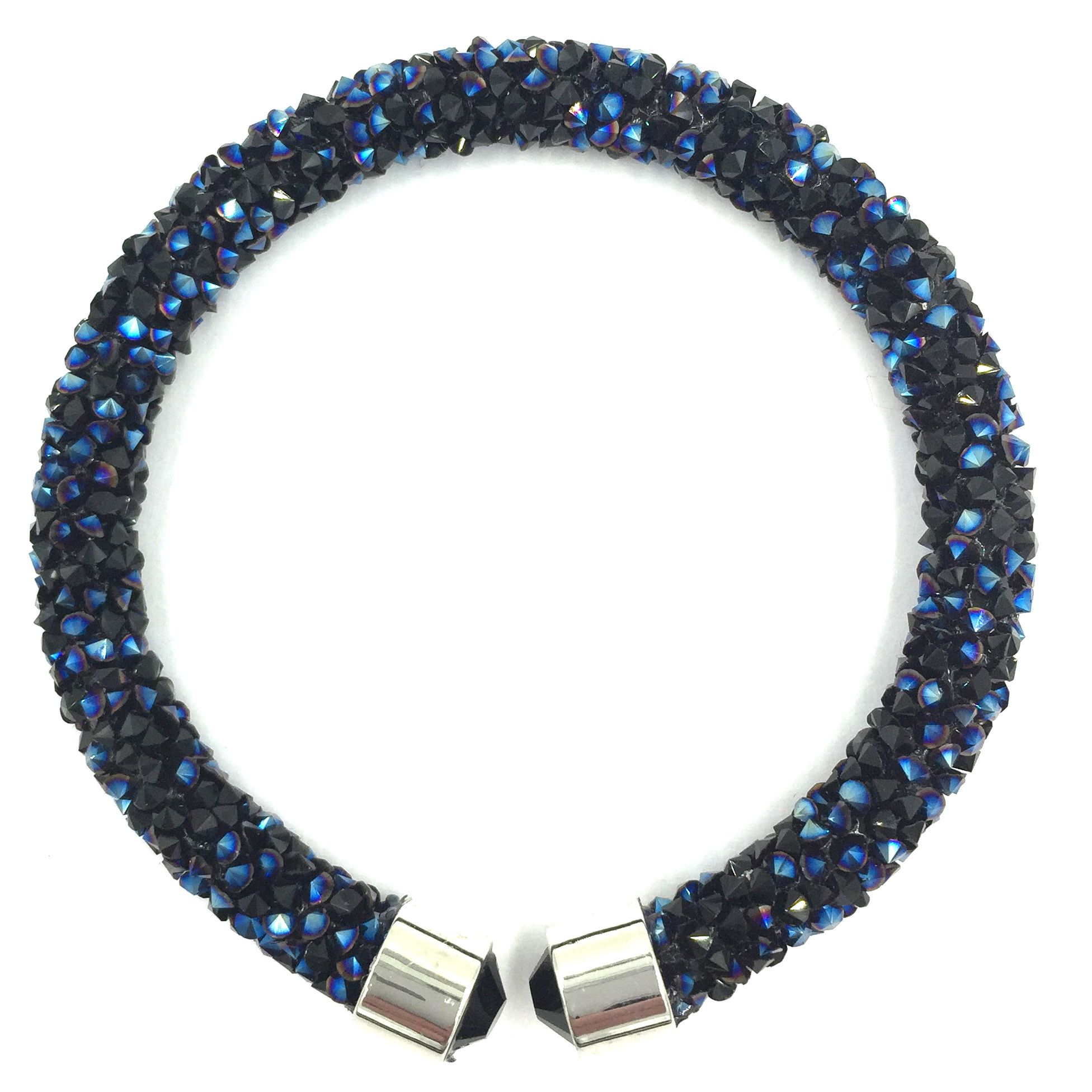 set jade blue bracelet and navy crystal beaded