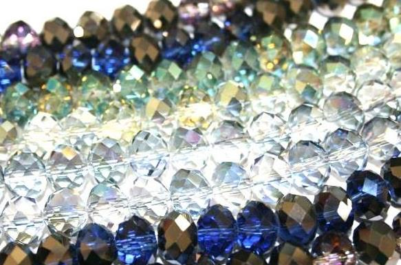 Rondelle Glass beads -- 2 tones
