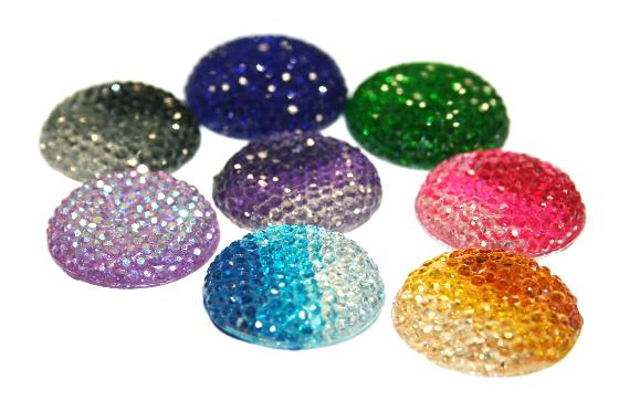Diamond acrylic flat back -- round shape range 30mm x 30mm x 7mm