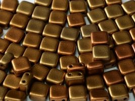 01610 2-HOLE SQUARES 6 X 6 MM METALLIC MIX (25 pieces)