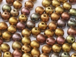 01610 ROUND CZECH BEADS METALLIC 6 MM METALLIC MIX (50 pieces)