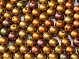 01620 ROUND CZECH BEADS METALLIC 6 MM ANCIENT GOLD (50 pieces)