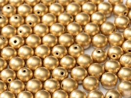 01710 ROUND CZECH BEADS METALLIC 6 MM AZTEC GOLD (50 pieces)