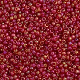 0254 SEED BEADS 11/0 TRANSPARENT RED AB