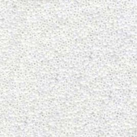 0471 SEED BEADS 11/0 WHITE PEARL AB