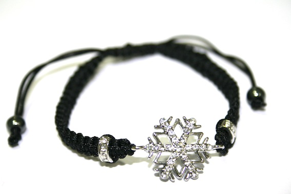 1 x Snowflake Shades of Grey  Bracelet -- SGSB002 - S.A01