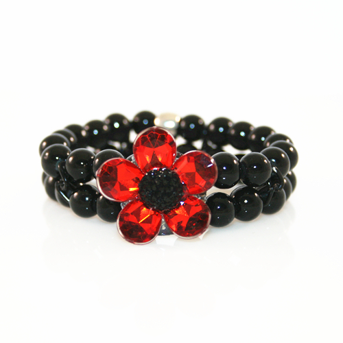 10 x Poppy bracelet kits with glue and elastic (cost price = £1.50 each)