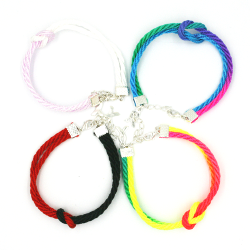 10  x Unity bracelet with lobster clasp & ribbon charm - 3mm cord £0.75 each