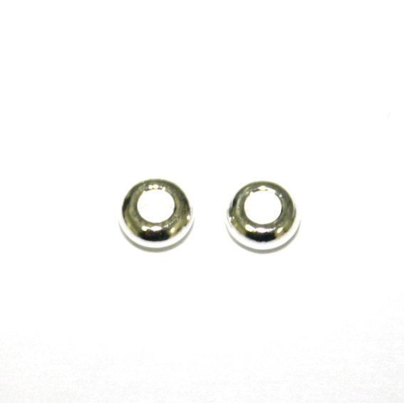 100 x 4.5*1.7mm Silver plated round closed ring - S.F10 - WC034 - 2040002