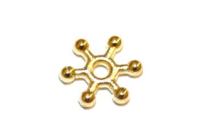 1000pcs x 8mm Snowflake Spacers Gold colour - S.F02 - WA143 - 2002063