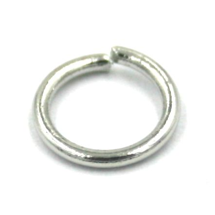 100pcs 8mm x 1mm Jump rings rhodium plated - 17A3814