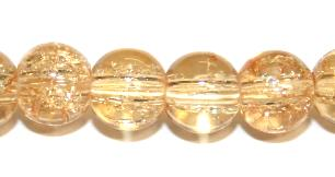 106pcs x 8mm Apricot glass crackled beads -- 3005035