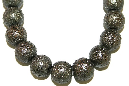 10mm Grey Glass Blister Moon Pearls- 90 pces