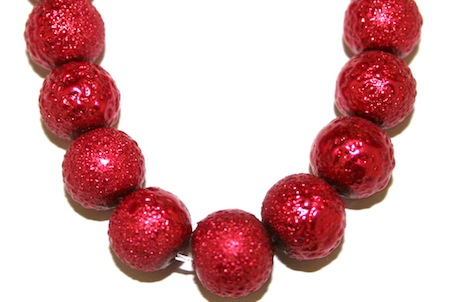 10mm Red Glass Blister Moon Pearls- 90 pces