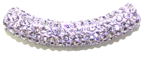10mm x 45mm 198 St - Pave Crystal Spacer Tube - Lilac 1045016 - SM03