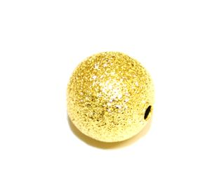 10pcs x 10mm Frosted spacer ball gold colour - S.F - WC198 - 4000026