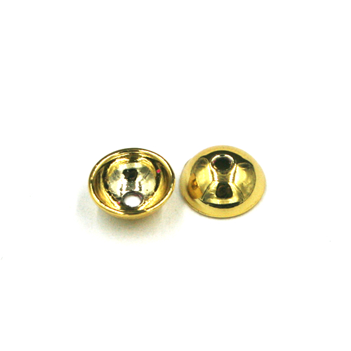 10pcs x 8mm Bowl spacer centre drilled - gold colour - c8019009