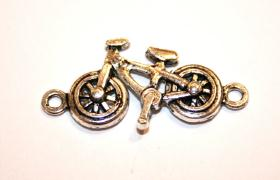 11 Pces x Antique Silver Bike Alloy Charm #ACH095 Size 31MM X 15MM