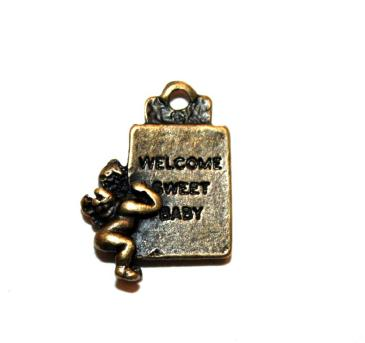 12 Pces x Antique Brass Cherub Alloy Charm #ACH0015 Size 20MM X 15MM