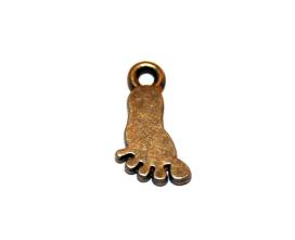 12 Pces x Antique Brass Foot Alloy Charm #ACH0047 Size 14MM X 7MM