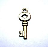 12 Pces x Antique Brass Key Alloy Charm #ACH0011 Size 25MM X 10MM