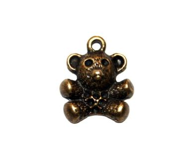 14 Pces x Antique Brass Teddy Bear Alloy Charm #ACH0024 Size 17MM X 14MM
