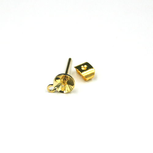 14pcs x Earring - stud for glue on - gold colour - C8008004