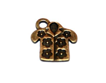 15 Pces x Antique Brass Shirt Alloy Charm #ACH0049 Size 17MM X 15MM