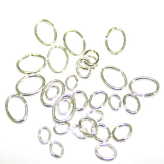 150 x 5*7*0.7mm Silver Plated Oval Jump Ring - S.F12 - WA203/WC052 - 2502090