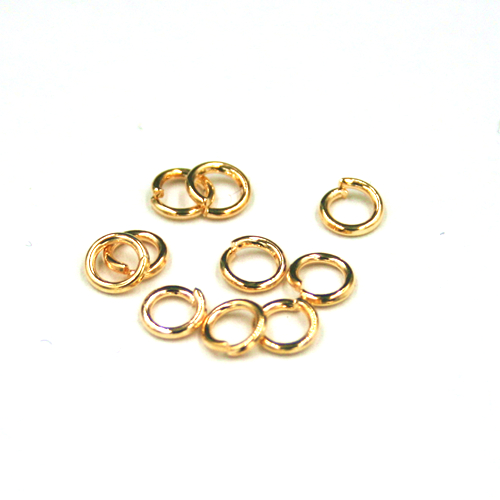150pcs x 0.7*4mm Jump ring - iron - champagne gold colour - C8008095