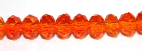 150pcs x 3mm Orange red faceted glass rondelle beads -- S.G06 -- 3005652