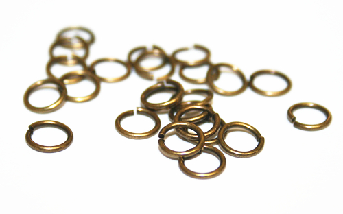 150pcs x 6mm Antique brass split ring - C7003023