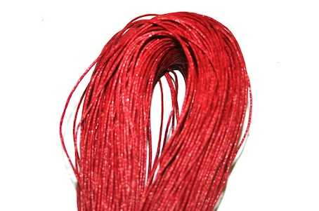 1mm Wax Cord - Red -140 Metres