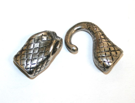 1pce x antique silver snake clasp - S.B06 - LCC001
