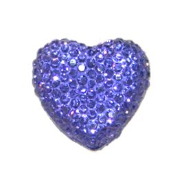 1piece x 12mm*12mm*4mm Diamond acrylic flat back purple colour -- heart shape -- DAFB-H012-006
