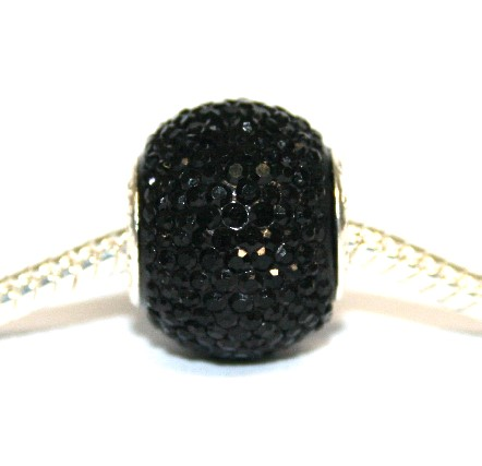 1piece x 16mm*14mm Big hole black diamond acrylic beads - fitted pandora style bracelet - S.H02 - BHDAB031R - 16