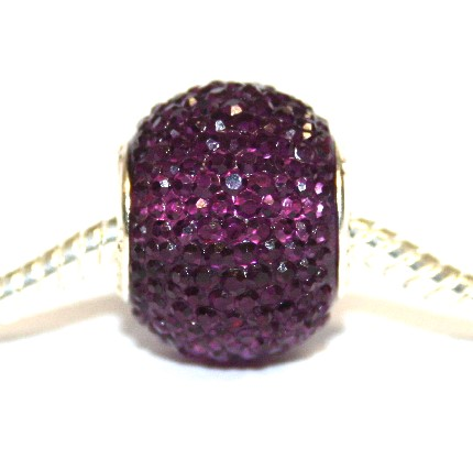 1piece x 16mm*14mm Big hole purple diamond acrylic beads - fitted pandora style bracelet - S.H02 - BHDAB028R - 16