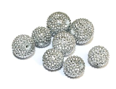 1piece x 18mm  Spikestyle bead - Silver colour -- 5000028