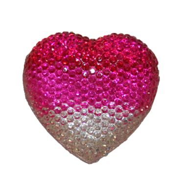 1piece x 20mm*19mm*5mm Diamond acrylic flat back clear-pink-red colour -- heart shape -- DAFB-H020-016