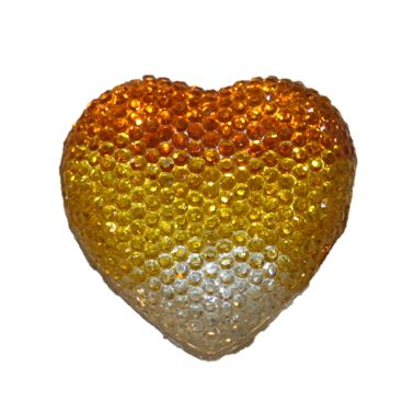 1piece x 20mm*19mm*5mm Diamond acrylic flat back clear-yellow-amber colour -- heart shape -- DAFB-H020-024