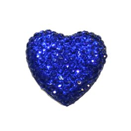 1piece x 20mm*19mm*5mm Diamond acrylic flat back dark blue colour -- heart shape -- DAFB-H020-012