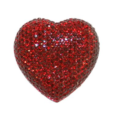 1piece x 20mm*19mm*5mm Diamond acrylic flat back dark red colour -- heart shape -- DAFB-H020-004