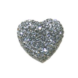 1piece x 20mm*19mm*5mm Diamond acrylic flat back grey colour -- heart shape -- DAFB-H020-028