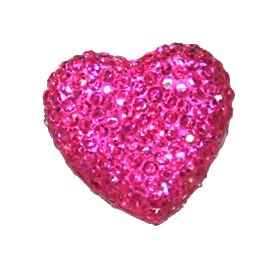 1piece x 20mm*19mm*5mm Diamond acrylic flat back hot pink colour -- heart shape -- DAFB-H020-005
