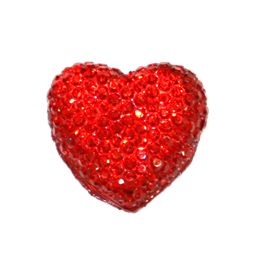 1piece x 20mm*19mm*5mm Diamond acrylic flat back red colour -- heart shape -- DAFB-H020-007