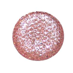 1piece x 25mm*25mm*5mm Diamond acrylic flat back baby pink colour -- round drop shape -- DAFB022