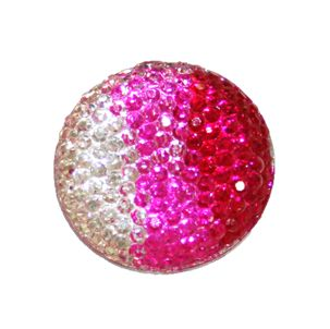 1piece x 25mm*25mm*5mm Diamond acrylic flat back clear-pink-hot pink colour -- round shape -- DAFB016
