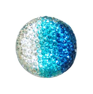 1piece x 25mm*25mm*5mm Diamond acrylic flat back clear-turquoise-blue colour -- round  shape -- DAFB020