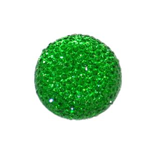 1piece x 25mm*25mm*5mm Diamond acrylic flat back green colour -- round drop shape -- DAFB013